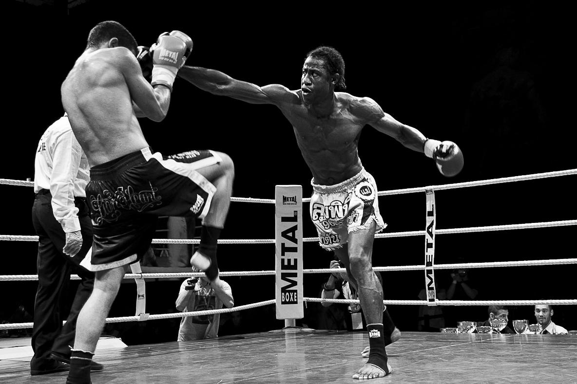 Julien Dromas photographe sport boxe thai Dijon palais des sports