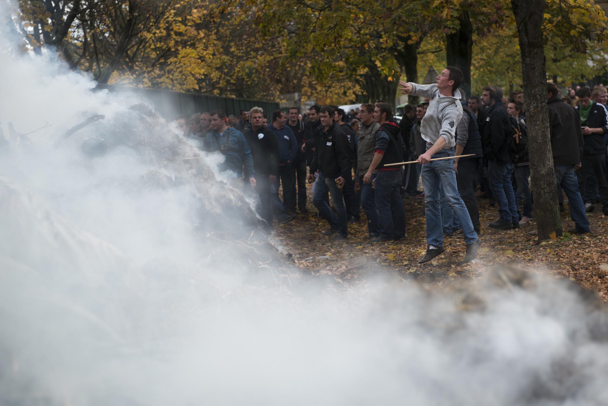 Julien Dromas photographe Dijon manifestation agriculteurs FNSEA
