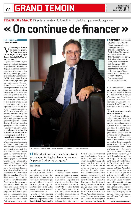 Julien Dromas photographe Dijon portrait François Macé Directeur Général du Crédit Agricole